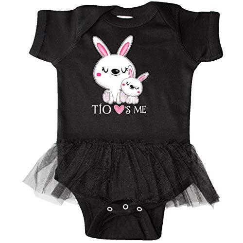 inktastic - Tío Loves Me- Bunny Infant Tutu Bodysuit 24 Months Black -