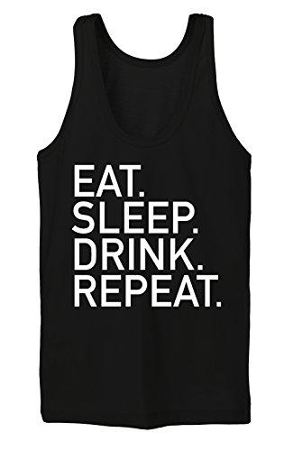 Eat Sleep Drink Repeat Tanktop Girls Nero