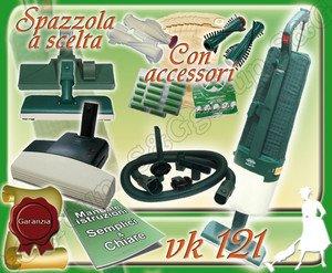 SET COMPLETO: ASPIRAPOLVERE FOLLETTO VK121 USATO + BATTITAPPETO + PULIZIE AEREE