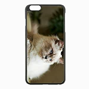iPhone 6 Plus Black Hardshell Case 5.5inch - furry lying Desin Images Protector Back Cover