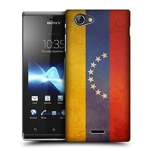 Quaroth - Head Case Venezuela Venezuelan Vintage Flags Back Case For Sony Xperia J ST26i