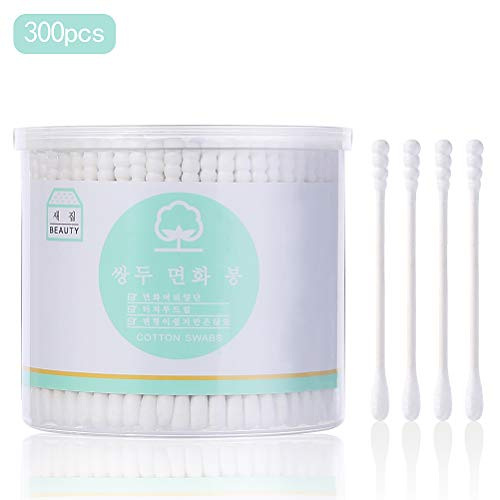 Cotton Swab Double Head Baby Cotton Buds Ears Cleaning Cosmetics Health Care Make up Remover Tool - 300 Count from NIAOWU