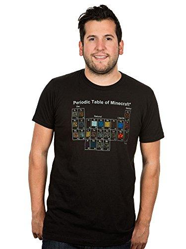 JINX Minecraft Men's Periodic Table Premium T-Shirt (Black, - Table Periodic Code