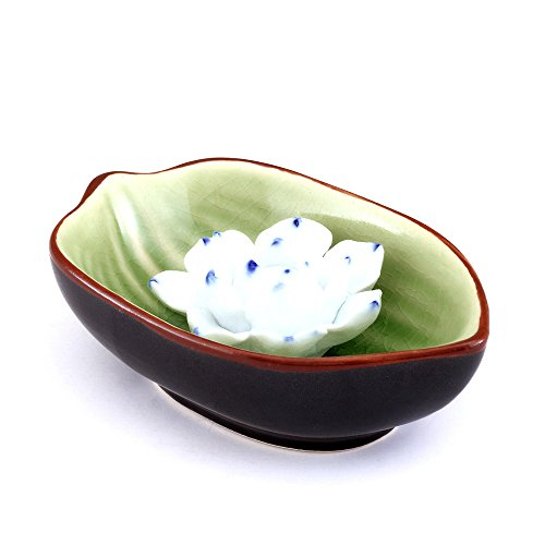 Handmade Ceramic Incense Lotus Holder with Tang Dynasty Style by Medoosky (Portable Coal Burner compare prices)