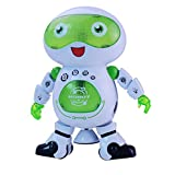 Hugine Electronic Dancing Robot Walking 360 Degree Spinning Toys with Music and Colorful Flashing Lights Smart Space Robot for Kids Pets