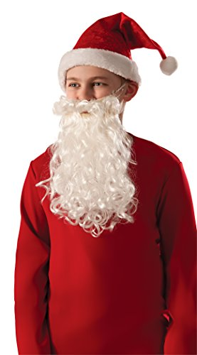 Child Santa Claus Costumes (Rubie's Costume Child Santa Beard & Mustache)