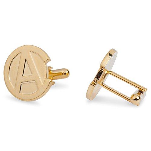 24k Gold Plated Cufflinks - 24K Gold-Plated Ancap Cufflinks