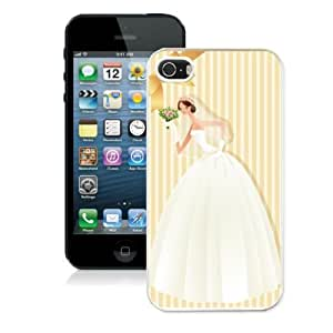 Custom Stripe Cartoon Charactor Wedding Hard Shell Cover for Iphone 5 Apple Iphone 5s Case Cute Mobile Phone Protector