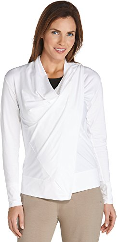 Coolibar UPF 50+ Women's Cowl Neck Wrap - Sun Protective (Small- White)