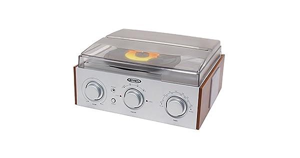Amazon.com: Jensen 3-speed Turntable con AM/FM Stereo Radio ...