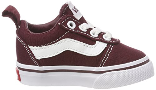 on Eu Ward Zapatillas Niños Royale Port white 8j7 Slip Unisex Vans Rojo canvas E7dqA7