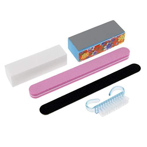 ers Block Sanding File Cleaning Brush Manicure Pedicure ()