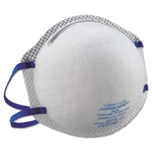 Kimberly-Clark Jackson Safety N95 Particulate Respirator - Particulate, Dust Protection - Soft Foam Nose Pad, Clot