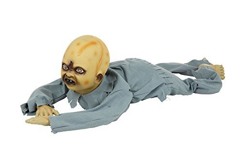 [Crawling Zombie Baby Prop for Halloween Party Decoration by Partypackage Ltd] (Zombie Baby Halloween Prop)