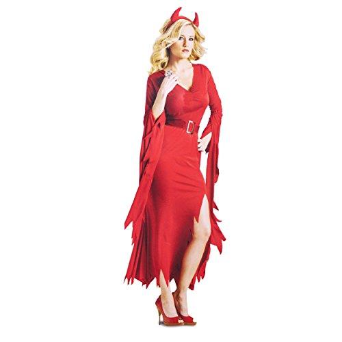 FunWorld Gothic Devil, Red, Medium/Large 10-14 Costume