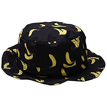 648daf6a174 SODIAL(R) Bucket Hat Boonie Hunting Fishing Outdoor Cap Banana Pattern