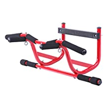 GoFit Elevation Chin Up Station and Bar for Door Frame Installation, No Screws, for Pull ups, Push Ups, Ab Training