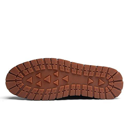 Uomo in Nero Anguang Stringata PU Mocassini Moda Scarpe Pelle Affari Lavoro Sneakers dEqRqPxZ