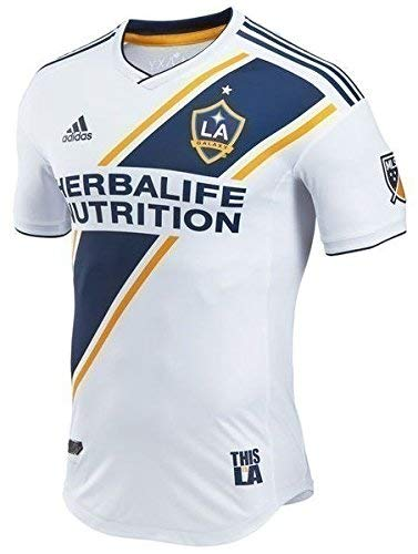 Adidas La Galaxy Home Jersey - adidas LA Galaxy 2018 Home SS Authentic Jersey- White/Navy M
