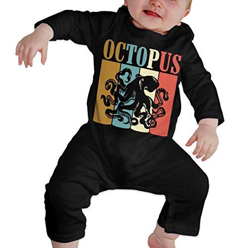 Toddler Baby Boy Girl Organic Coverall Vintage Retro Style Octopus Kid Pajamas ()