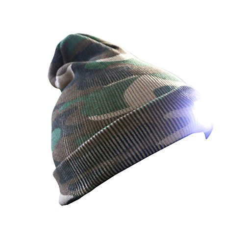 Unisex 5 LED Knitted Flashlight Beanie Hat/cap for Hunting, Camping, Grilling, Auto Repair, Jogging, Walking, Handyman Working Or honorable person CS Games CAMO by amazing-zone