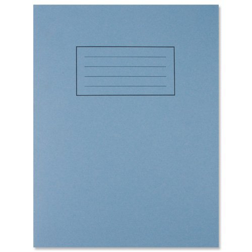 5 SILVINE BLUE A5 SCHOOL EXERCISE BOOKS 7 MM SQUARES SQUARED MATHS ...