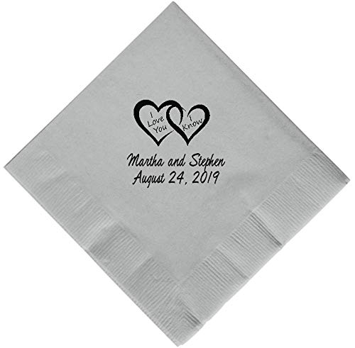 Personalized Cocktail, Beverage or Dessert Wedding Napkins (300) by Favor Supply Store (Image #7)