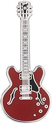 Geepins Esmalte Pin en forma de Guitarra | Precioso Broche Gibson 335 | 52 mm |