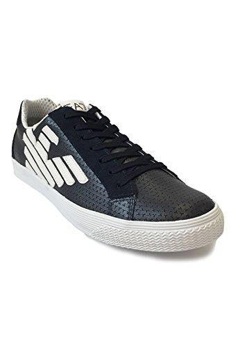 Emporio Armani EA7 Herrenschuhe Herren Schuhe Sneakers pryde blu Navy