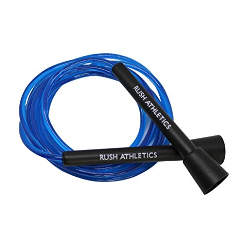 RUSH ATHLETICS Speed Rope ICE Blue- Best for Boxing MMA Cardio Fitness Training - Speed - Adjustable 10ft Jump Rope Sold (Best Skipping Rope Uk)