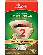 MELITTA Natural Brown #2 Cone Filters, Cone Coffee Filters, Replacement Filters, Coffee Maker Filters, 100 Count - 622850