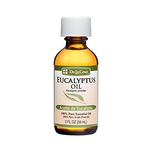 De La Cruz Pure Eucalyptus Essential Oil, Steam Distilled, Bottled in USA 2 FL. OZ. (1 Bottle)