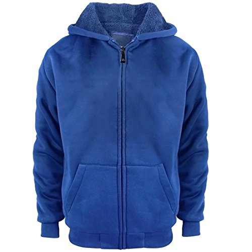 Sherpa Lined Boys Hoodie Full Zip Fleece Warm Youth Big Long Sleeve Child Sweatshirts