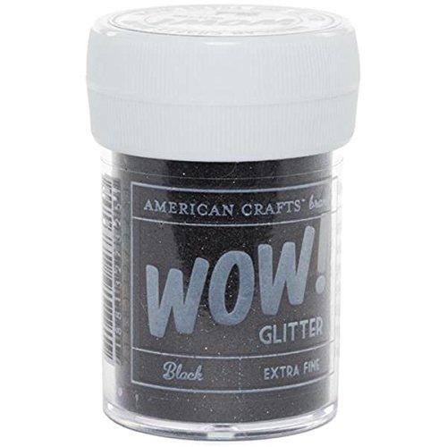 Art Wall AMC27325 30 ml Glitter, Extra Fine, Black American Crafts