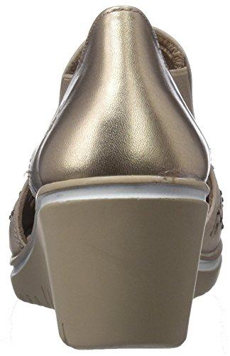 sandalias 10 beige para de punta abierta 23561 mujer Taupe HORAS 24 RdqwfaR