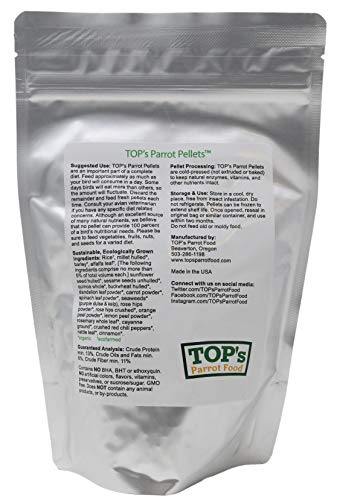 Picture of TOP's Parrot Food Small Pellets for Birds - 12oz / 340g