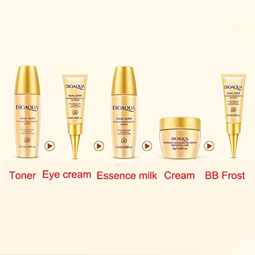 c6d9be028c28 BIOAQUA 5PCS Whitening Cream Face Skin Care Set Facial Essence ...