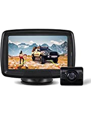 """AUTO-VOX TD-2 Digital Wireless Backup Camera Kit, IP68 Waterproof Reverse Camera 4.3"""" LCD Monitor -20-65℃ Resistant Rear View Camera with Low-Light Night Vision for Trucks, RV, Vans, Trailers"""