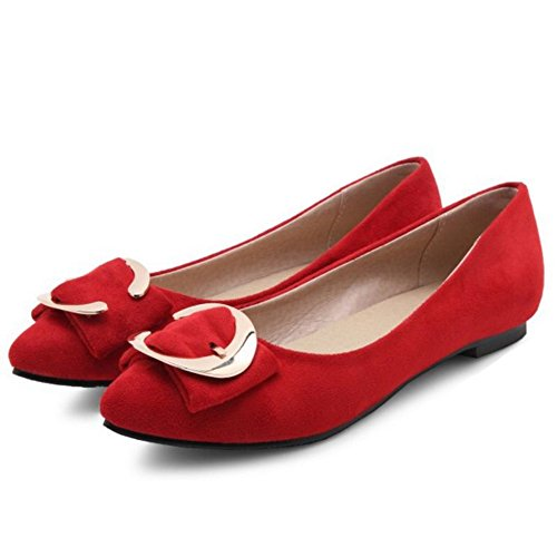 Mujer Cuña Sintético Rojo con Sandalias de Chicmark f6qBAUww