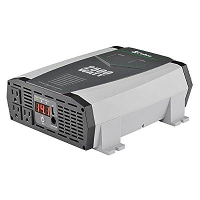 Cobra CPI2590 Portable Power Inverter – 2500 Watt Car Charger, 2 Grounded AC Outlets, 12 Volt 2.4 Amp USB Port: Car Electronics