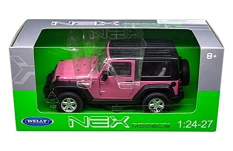 Pink Jeep Wrangler >> Welly 2007 Jeep Wrangler Pink 1 24 1 27 Diecast Model Car