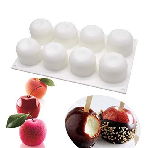 8 Holes Silicone Bakeware Apple Shape Mould Cherry Mousse Pastry Cake Mold Baking Tools