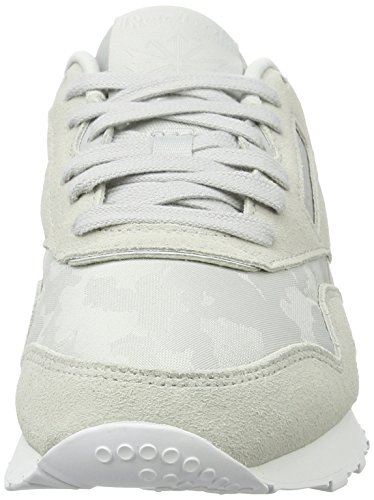 De Nylon Grey hs Cl Gris Gymnastique Femme Skull white Chaussures Reebok f6twx4qOf