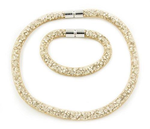 Élégant set Collier et bracelet avec fermeture magnétique