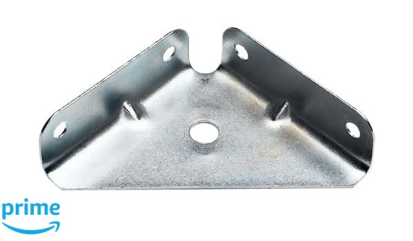 Bulk Hardware BH02471 Pl/ástico Blanco Corner Bracket Brace 50 X 50 Mm Paquete De 8