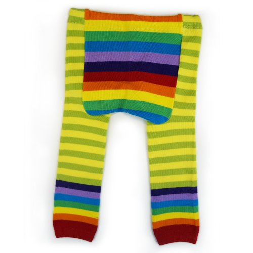 Bambino Land Baby Leggings (Small, Green Rainbow)