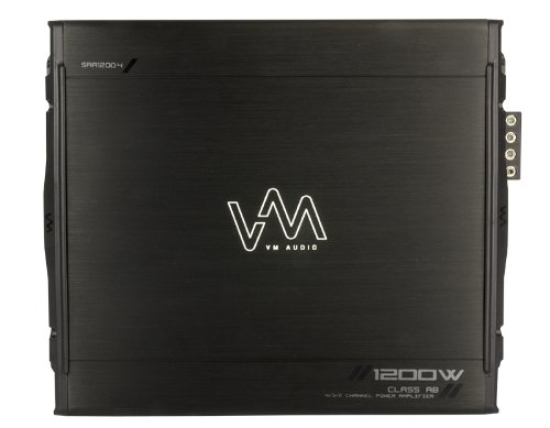 VM Audio SRA1200.4 1200W 4 Channel Car Amplifier Power Amp + Capacitor + Wiring