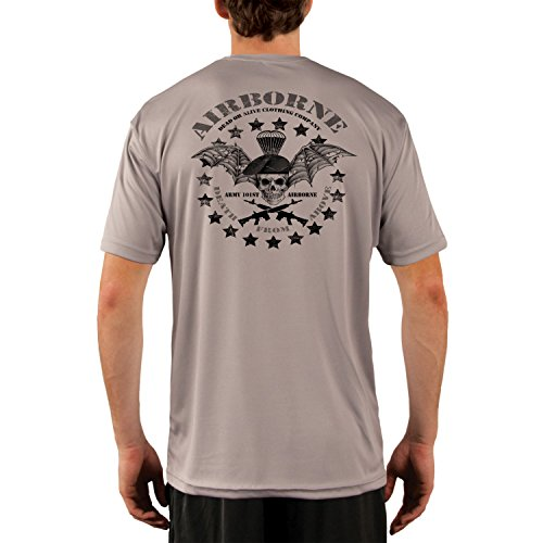 Dead Or Alive Clothing Men's Army 101ST Airborne UPF 50+ Short Sleeve T-Shirt XX-Large Athletic Grey