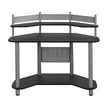 Studio Designs Calico 55123 Study Corner Desk, Silver with Black
