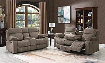 Amazon Com Esofastore 2piece Sofa Set Mocha Textured Velvet Contemporary Style Living Room Furniture Furniture Decor